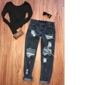 Black ONE TEASPOON trashed freebird jeans